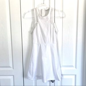 AMERICAN EAGLE White Summer Eyelet Dress